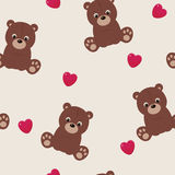 Seamless teddy bear background Royalty Free Stock Photography