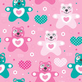 Seamless teddy bear pattern vector illustration Stock Photography