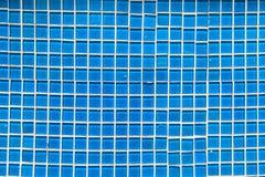 seamless tegelplattasignal för blå mosaik Arkivfoton
