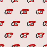 Seamless telephone pattern. Seamless pattern,telephone vector art  background design for fabric and decor Royalty Free Stock Photography