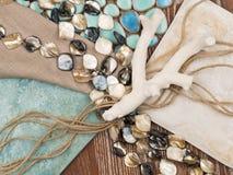 seamless tema för blått marin- hav Royaltyfri Fotografi