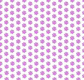 Seamless template with pink animal paw prints pattern on white. Cute seamless template with pink animal paw prints pattern on white background. Vector Royalty Free Stock Image
