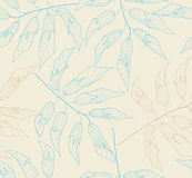 Seamless tender pattern. Seamless pastel floral background with colorful plants Stock Image