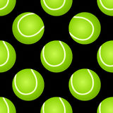 Seamless tennis ball pattern Stock Photography