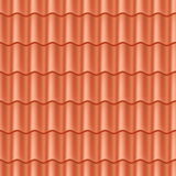 Seamless terracota roof tile. Royalty Free Stock Image