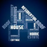 Seamless text house design Stock Photos