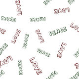 Seamless text pattern Royalty Free Stock Photos