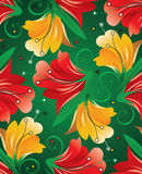 Seamless textile floral background Stock Photos
