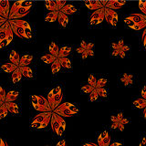 Seamless textile flower pattern Royalty Free Stock Images