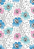 Seamless textile flowers background Stock Photography