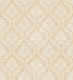 Seamless textile pattern. Damask floral seamless textile pattern in beige royalty free illustration