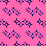 Seamless Textile Pattern With Floral Zigzag Stock Photography