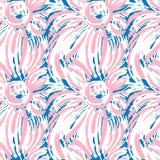 Seamless textile  pattern print .Fashion trendy expressive hand Stock Photos