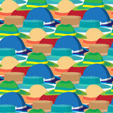 Seamless textile pattern with vector modern flat design Royalty Free Stock Photo