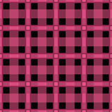 Seamless textile tartan pink balck checkered texture plaid patte Royalty Free Stock Photos