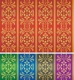 seamless textilwallpaper för damastast modell Fotografering för Bildbyråer