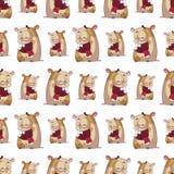 Seamless textur för Hamster. Royaltyfri Fotografi