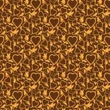 seamless textur för hjärta Royaltyfri Foto
