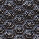 seamless textur för metall royaltyfri illustrationer