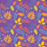 seamless textur för blom- leaves Royaltyfri Bild