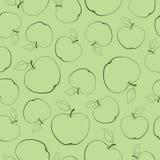 Seamless textur med äpplen Arkivbild