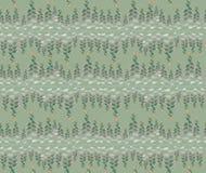 Seamless textur med blom- dekorativa linjer Arkivfoton