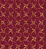 Seamless textur med den blom- prydnaden Royaltyfri Fotografi