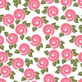 seamless textur Prydnad med rosor Arkivfoto