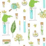 seamless textur Rör och växter på vit Vektor Illustrationer