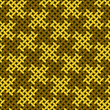 Seamless textural pattern. Seamless pattern consists of elements stylized as weaving Royalty Free Stock Image