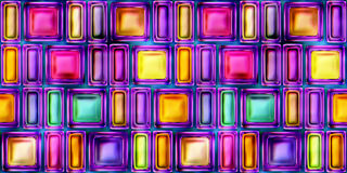 Seamless texture of abstract bright shiny colorful 3D illustration Royalty Free Stock Photo