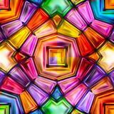 Seamless texture of abstract bright shiny colorful. Geometric shapes Stock Image