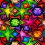 Seamless texture of abstract bright shiny colorful. Geometric shapes Royalty Free Stock Photo