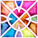 Seamless texture of abstract bright shiny colorful geometric shapes Royalty Free Stock Photo