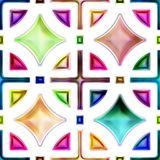 Seamless texture of abstract bright shiny colorful geometric shapes Stock Image