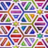 Seamless texture of abstract bright shiny colorful geometric shapes Royalty Free Stock Photos