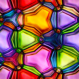 Seamless texture of abstract bright shiny colorful geometric shapes Stock Photos