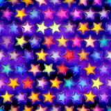 Seamless texture of abstract bright shiny colorful stars stock illustration