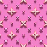 Seamless texture with abstract crosses on a pink background. Royalty Free Stock Images