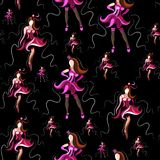 Seamless texture with abstract dancers 17. Seamless pattern texture with abstract decorative dancers. Vector illustration vector illustration