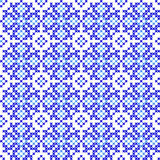Seamless texture with abstract embroidered blue patterns. Seamless texture with abstract blue embroidered patterns for cloth. Embroidery. Cross stitch vector illustration