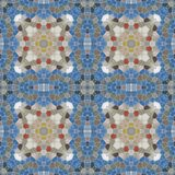 Seamless texture of abstract fabric. Kaleidoscopic wallpaper tiles Stock Photos