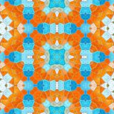 Seamless texture of abstract fabric. Kaleidoscopic wallpaper tiles Royalty Free Stock Photos