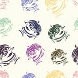 Seamless texture with abstract persons 2 Royalty Free Stock Photos