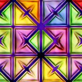 Seamless texture abstract shiny colorful background. Seamless texture of abstract shiny colorful background 3D illustration Royalty Free Illustration
