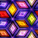 Seamless texture  abstract shiny colorful background 3D illustration Stock Photo