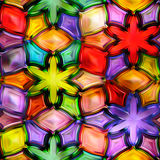 Seamless texture abstract shiny colorful background 3D illustration Royalty Free Stock Photos
