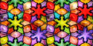 Seamless texture abstract shiny colorful background 3D illustration Stock Photos