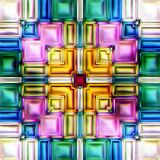 Seamless texture abstract shiny colorful background 3D illustration Royalty Free Stock Photography