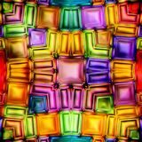 Seamless texture  abstract shiny colorful background 3D illustration. Seamless texture rectangles blue red and others colorful background  3D illustration Stock Photography
